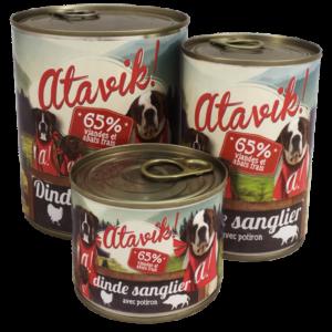Atavik pâtées pour chien dinde/sanglier