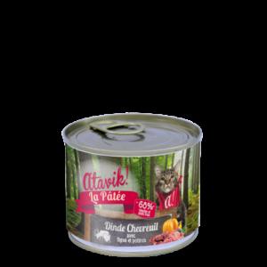 Atavik boites pour chat recette dinde chevreuil