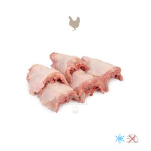 Dos de poulet crus