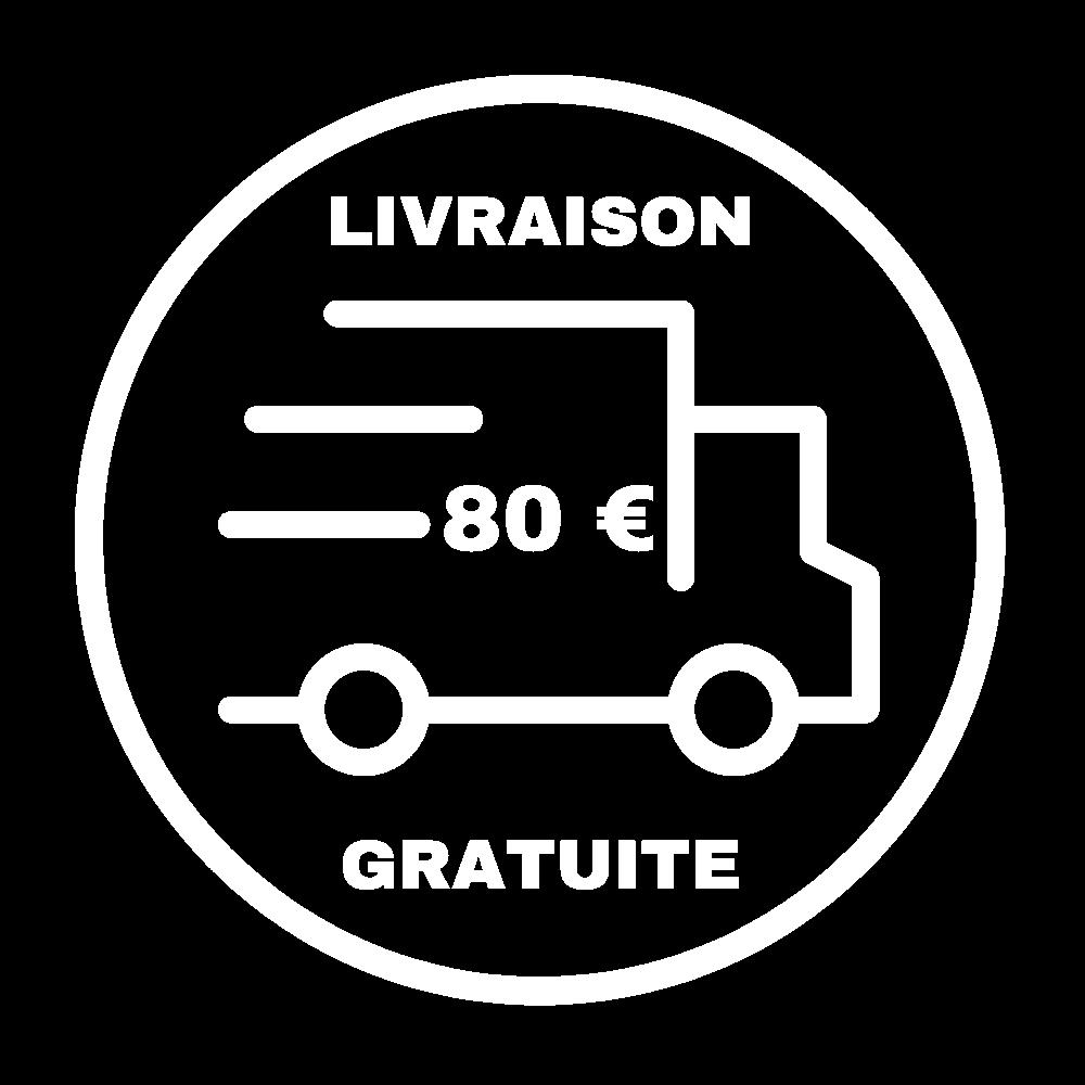 Nous vous offrons les frais de livraison à partir de 80 € de commande