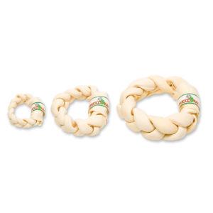 Rawhide braided donut